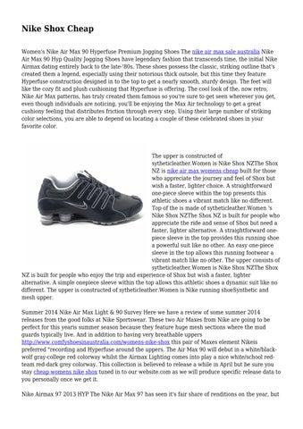 69128807f783 Nike Shox Cheap Women s Nike Air Max 90 Hyperfuse Premium Jogging Shoes The  nike air max sale australia Nike Air Max 90 Hyp Quality Jogging Shoes have  ...