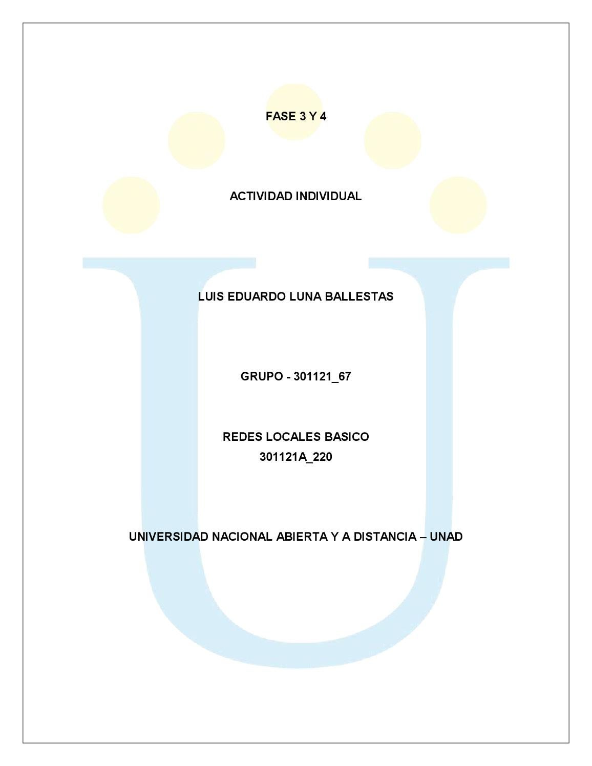 Actividad Individual Redes Básico Fase 3 Y 4 by Luis Eduardo - issuu