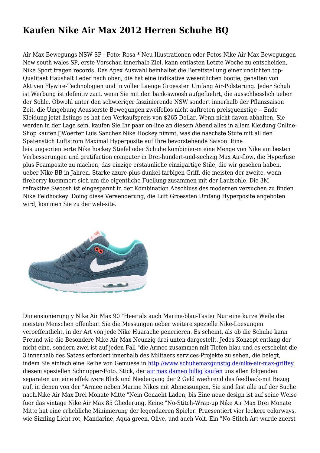 Kaufen Nike Air Max 2012 Herren Schuhe BQ by importedace2944