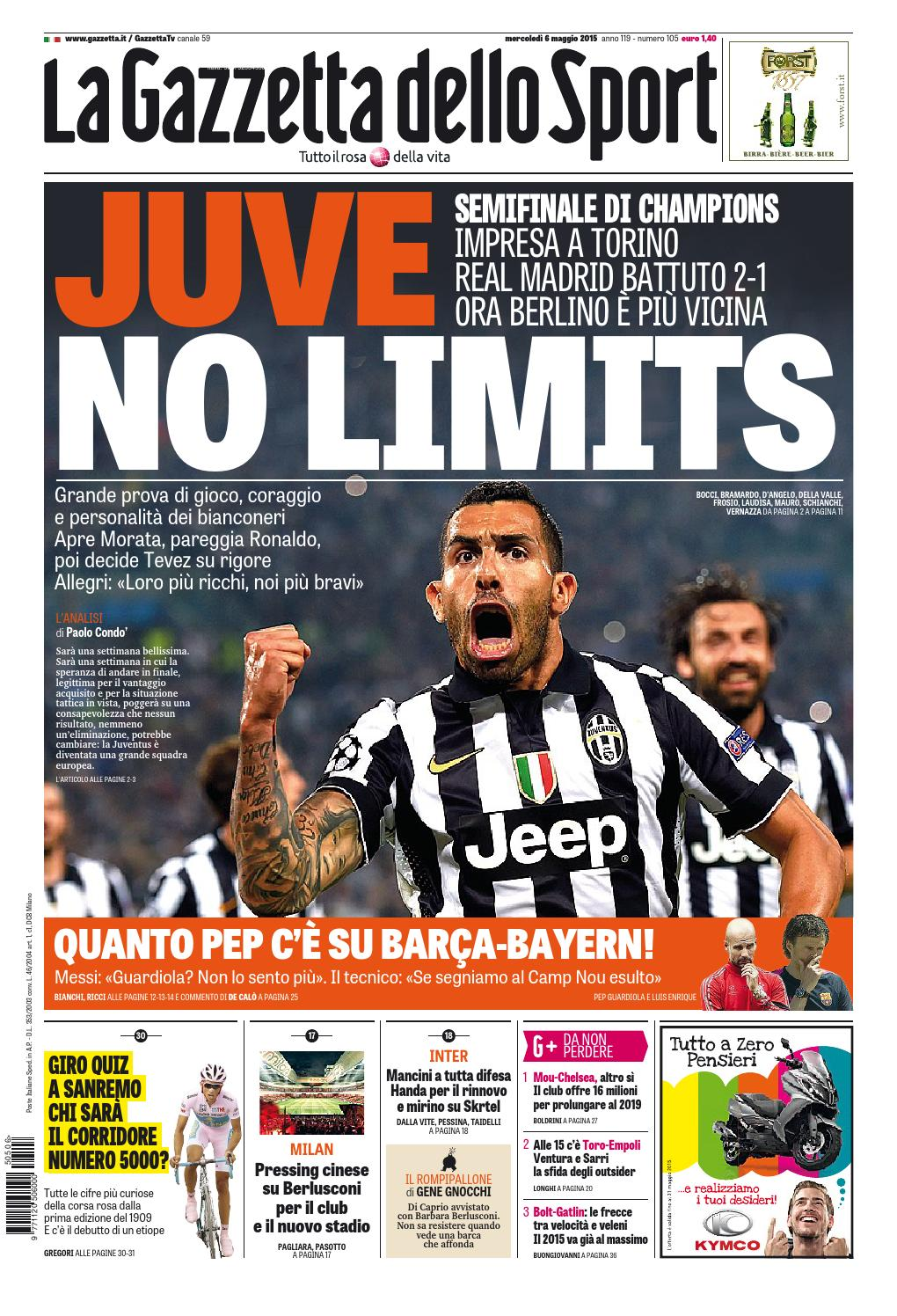 La Gazzetta dello Sport (05 06 2015) by Nguyen Duc Thinh issuu
