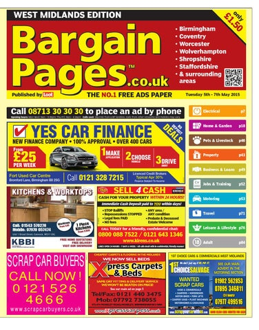 Bargain Pages West Midlands 5th May 2015 By Loot