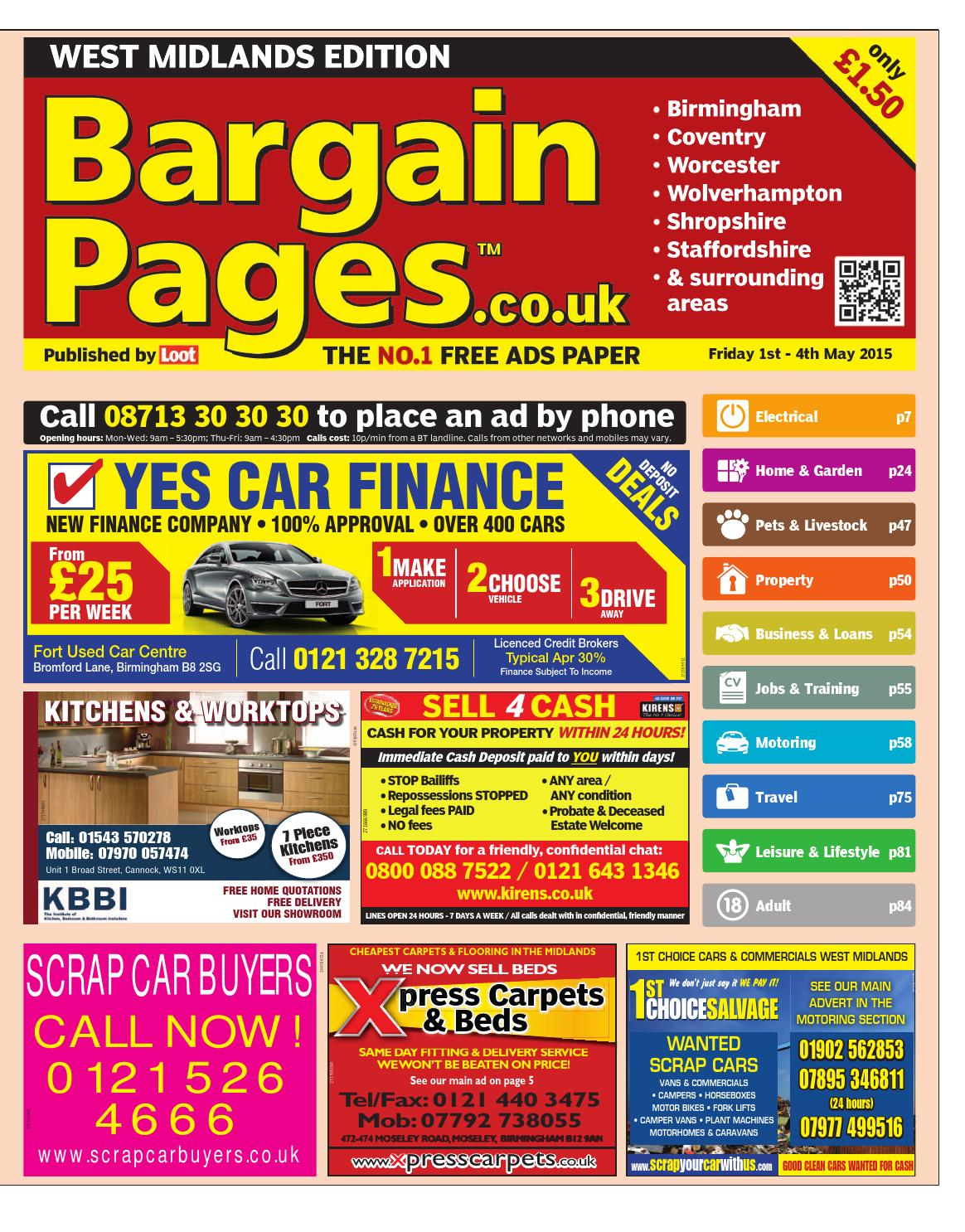 Bargain Pages West Midlands 1st May 2015 By Loot Issuu