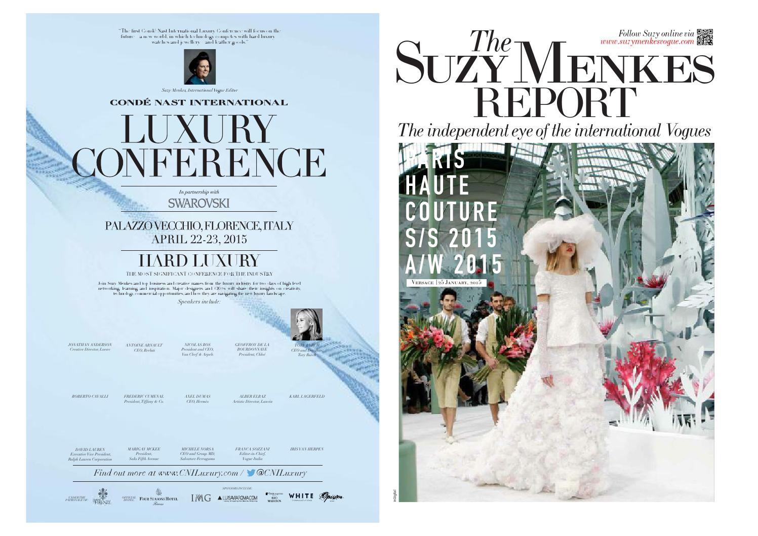 39f8b74827 Selected Suzy Menkes Fashion Week Reports 2015 by Katia Hadidian - issuu
