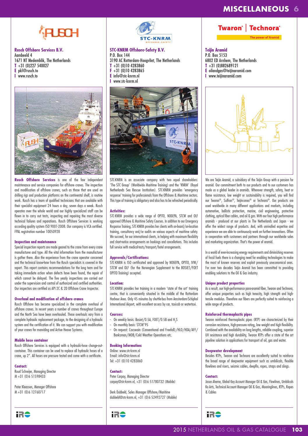 IRO Netherlands Oil & Gas Catalogue 2015 by Pedemex BV - issuu