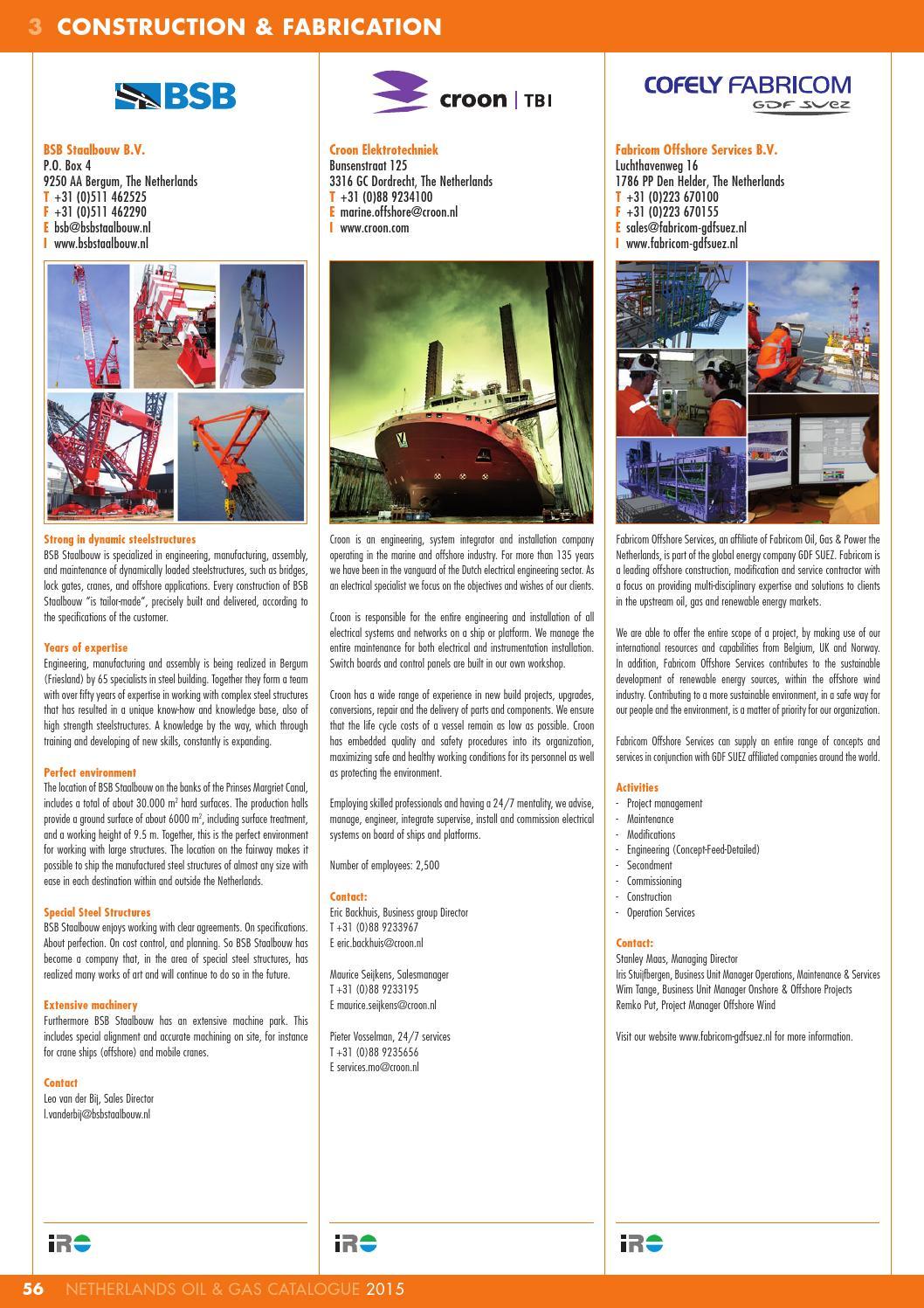 IRO Netherlands Oil & Gas Catalogue 2015 by Pedemex BV - Issuu
