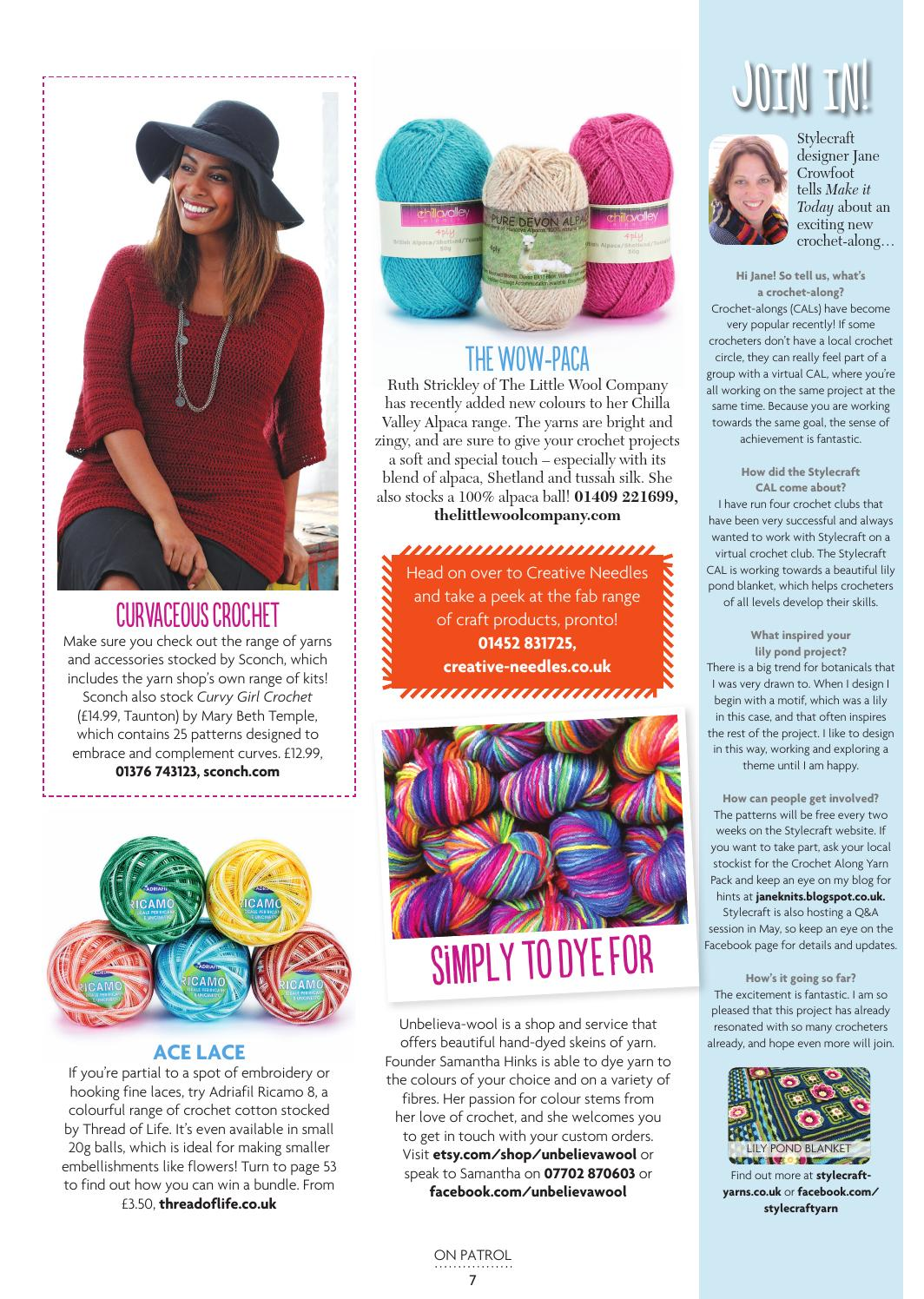 Make It Today Issue 5 Crochet By Club