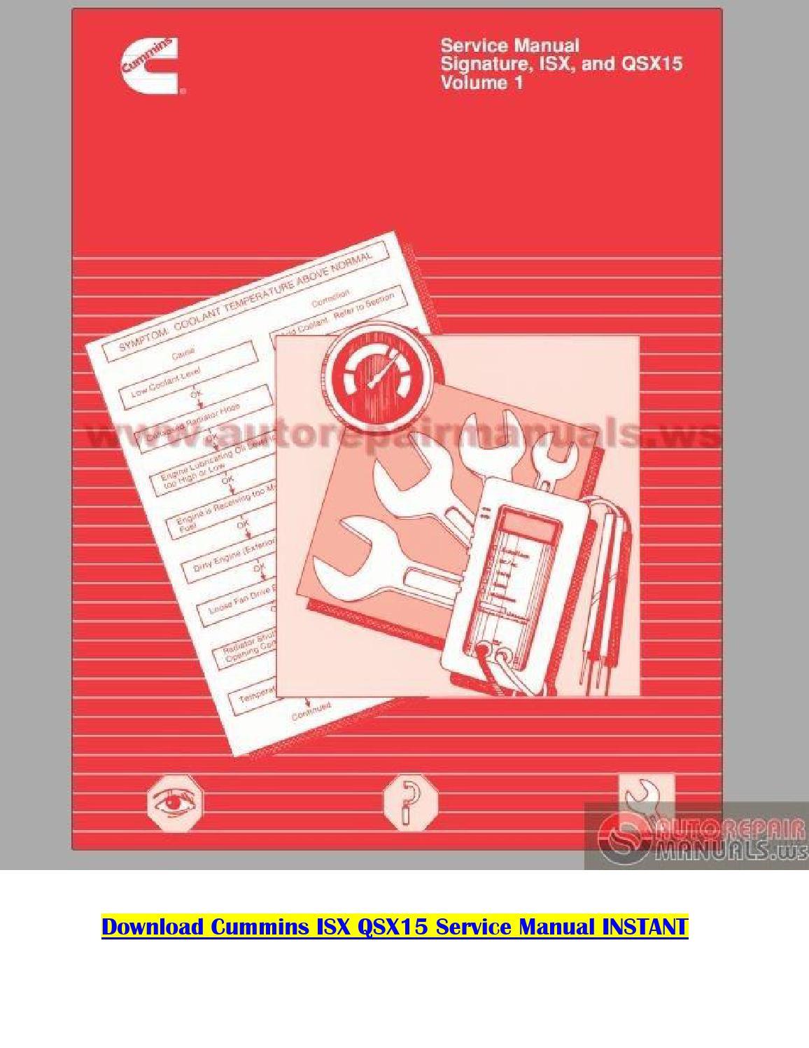 Cummins Isx Service Manual Pdf By Karnakal Issuu Engine Diagram
