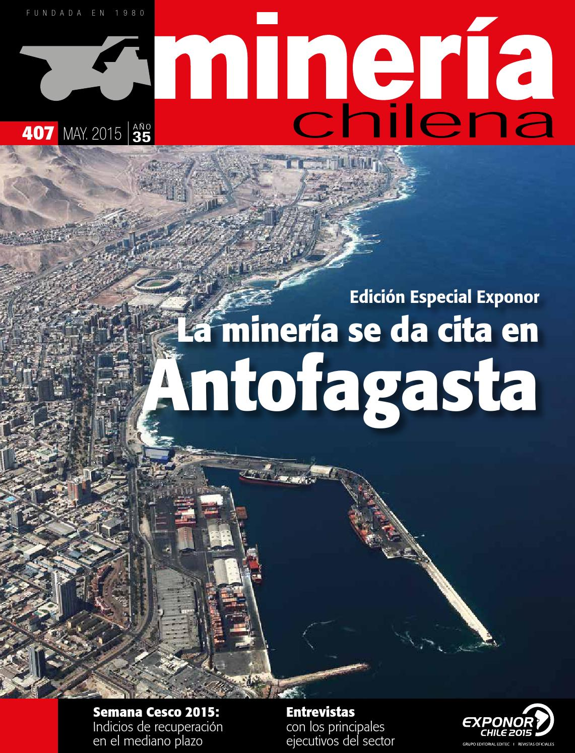 Revista MINERIA CHILENA 407 by Editec - issuu