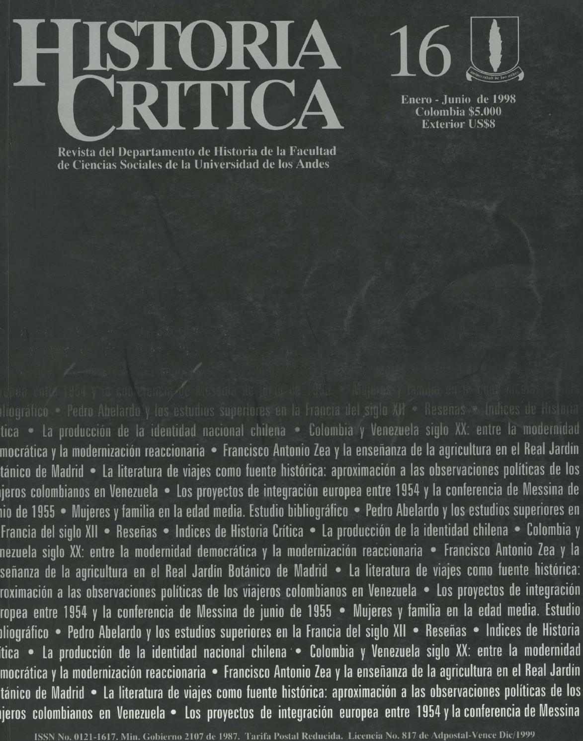Historia Crítica No 16 By Publicaciones Faciso Issuu