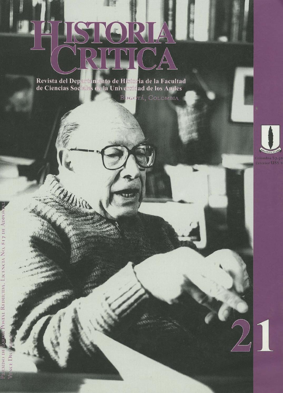 Historia Crítica No. 21 by Publicaciones Faciso - issuu