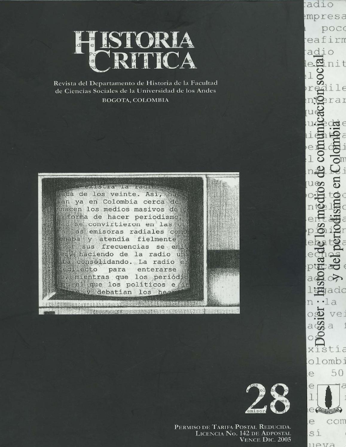 Historia Crítica No. 28 by Publicaciones Faciso - issuu