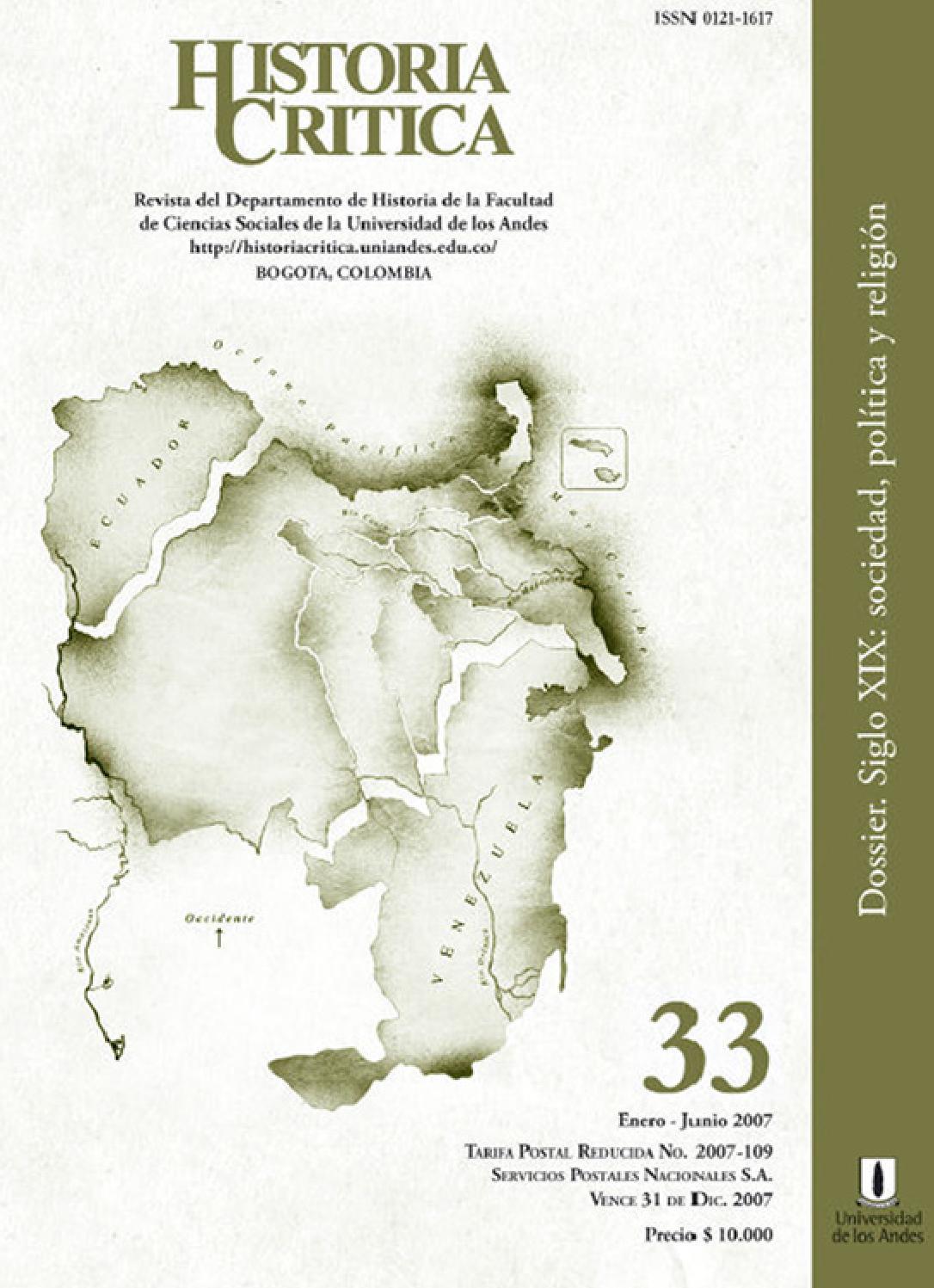 Historia Crítica No. 33 by Publicaciones Faciso - issuu