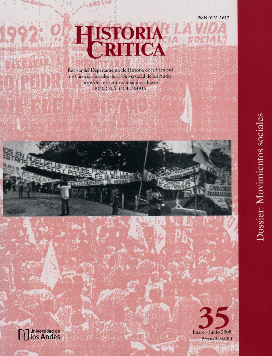 Historia Crítica No. 35 by Publicaciones Faciso - issuu