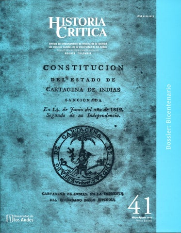 Historia Crítica No. 41 by Publicaciones Faciso - issuu 010fa263b02
