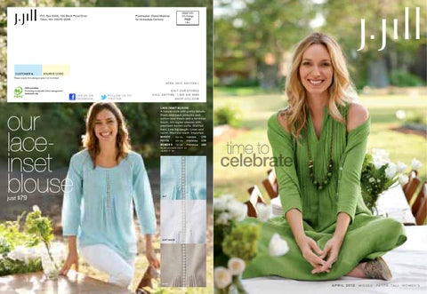 ce7ffb58 J.Jill April catalog by Lauren Shiraka - issuu