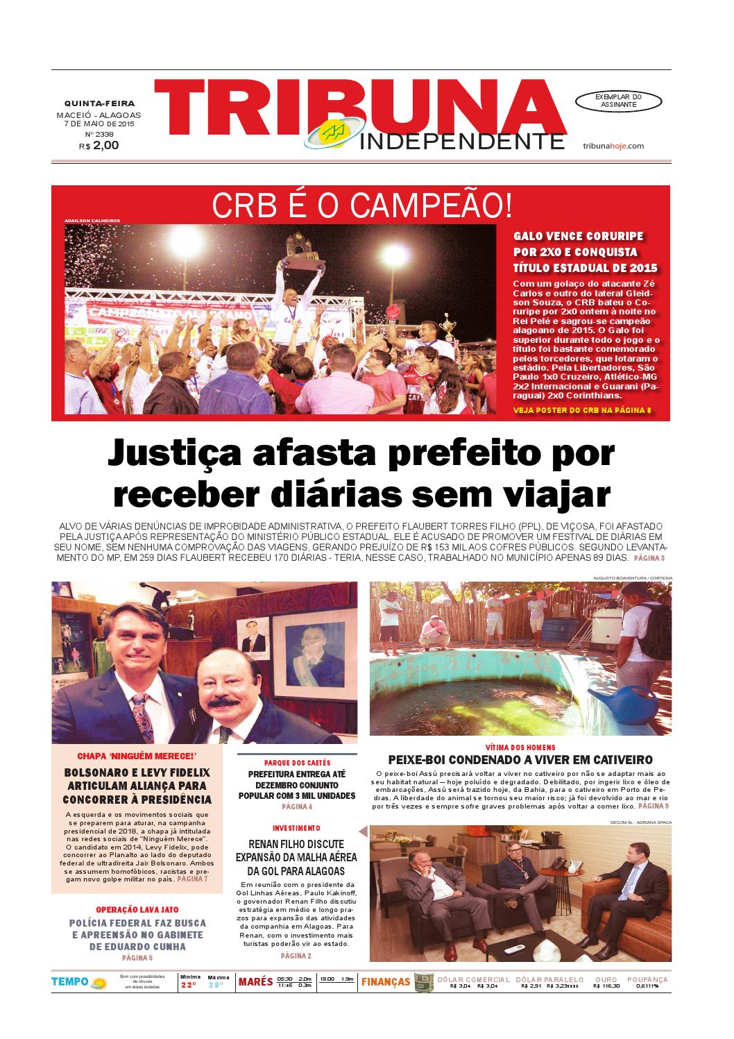Edição número 2338 - 7 de maio de 2015 by Tribuna Hoje - issuu 3e776ebfe22