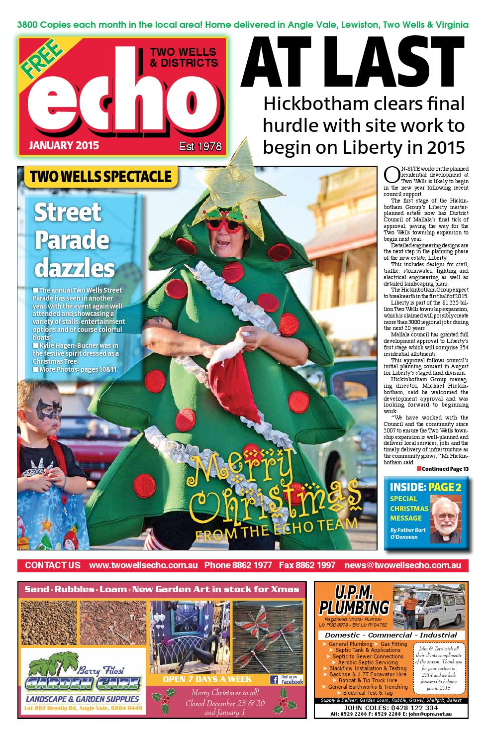 2015 January Echo by Two Wells & Districts Echo - issuu