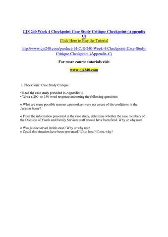 checkpoint case study critique cjs 240