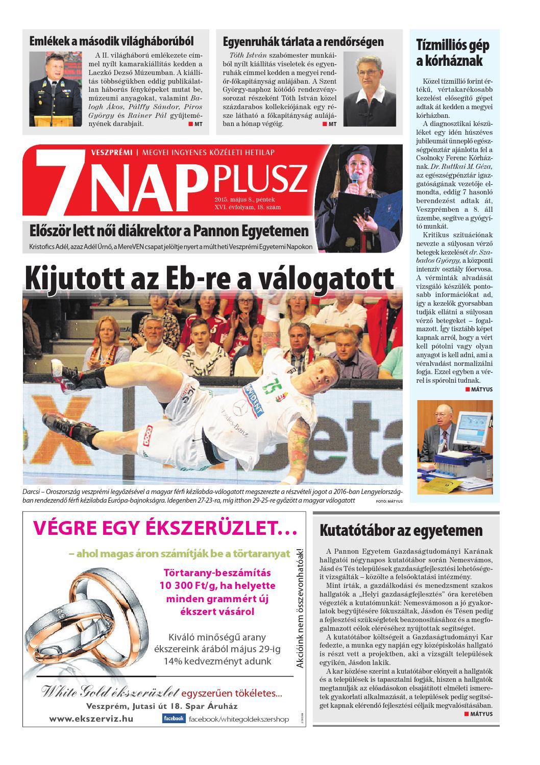 Veszprémi 7 Nap Plusz - 2015. 05. 08. by Maraton Lapcsoport Kft. - issuu dfd64a0f1a