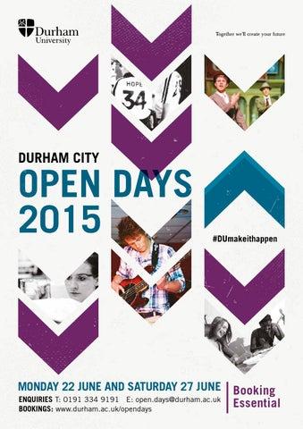 Pre Application Open Day 2015 Durham City By Durham University Issuu