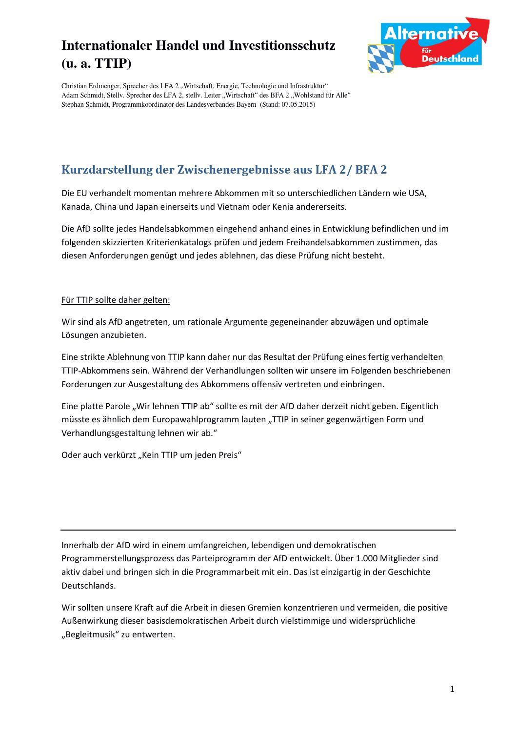 ddda093e28 Zwischstand lfa2 freihandel ttip by AfD Bayern - issuu