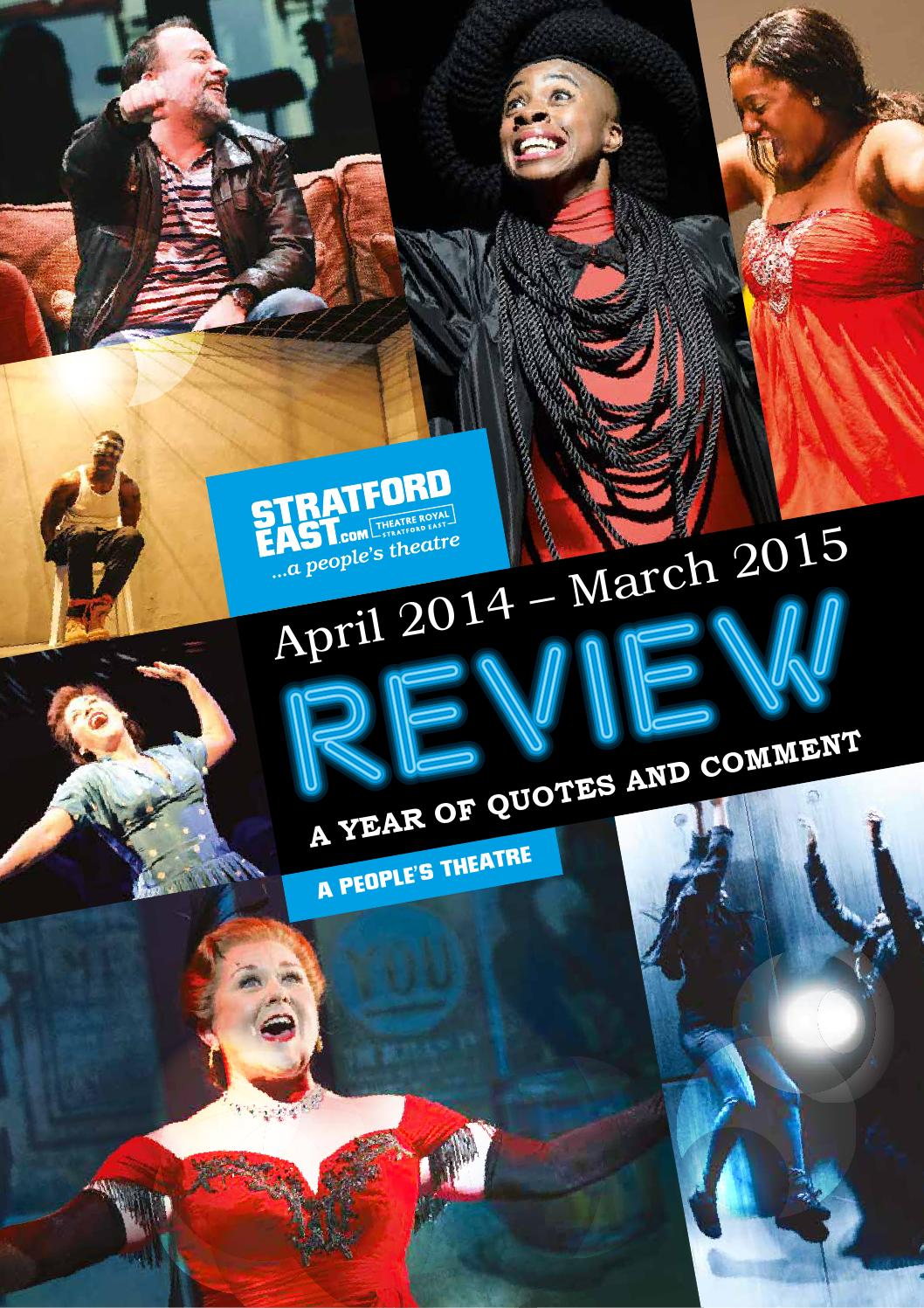 Annual Review 2014 2015 by Theatre Royal Stratford East
