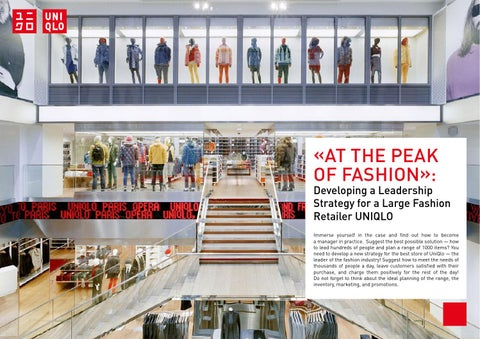 cl uniqlo case Study of complaint behavior toward fashion chain stores: a case study in  hong  fashion chain companies included gap, h&m, zara, and uniqlo,   cheng ys, hui cl (2009) salespersons' service quality and customer.