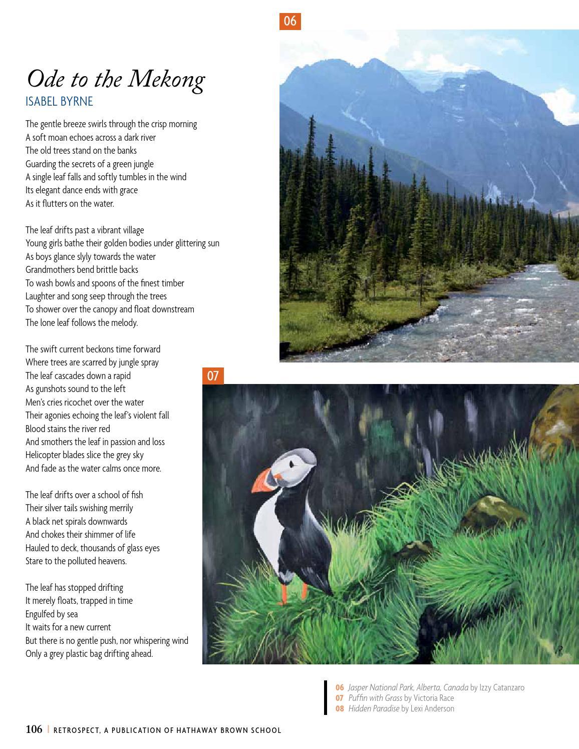 Retrospect Volume 2 May 2015 by Hathaway Brown School - issuu