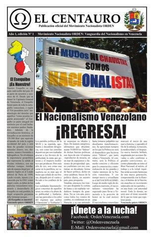 f2e5351ed8 El centauro 1 by Movimiento Nacionalista ORDEN - issuu