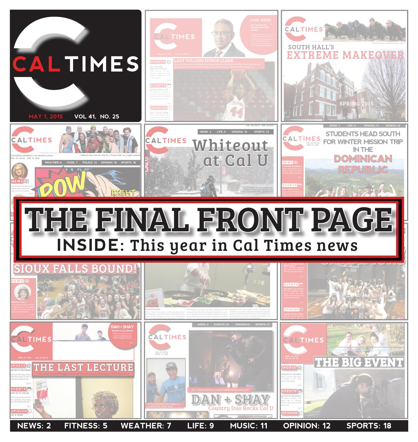 Cal Times May 1, 2015 by Cal Times - issuu
