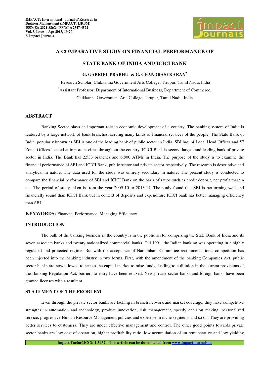 4 manage a comparative study on the financial g gabriel prabhu