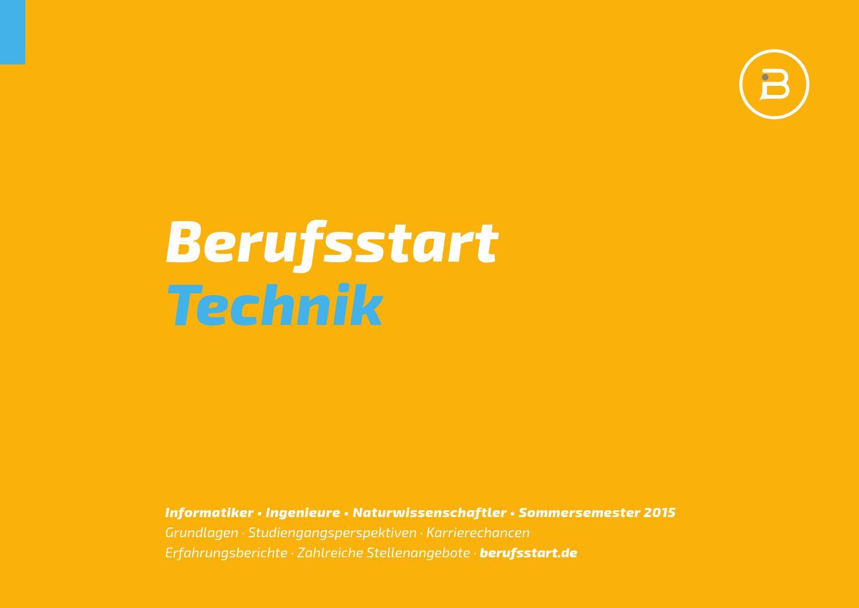 Berufsstart Technik Sommersemester 2015 by Berufsstart - issuu