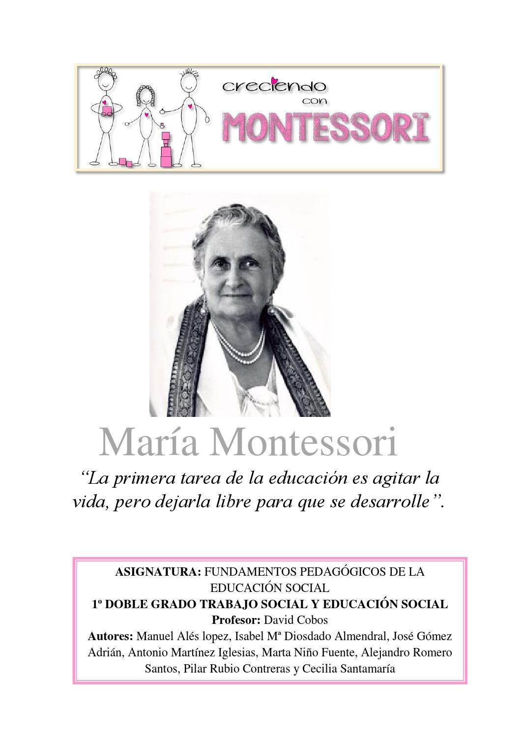 Montessori final by Isabel Mª Diosdado Almendral - issuu