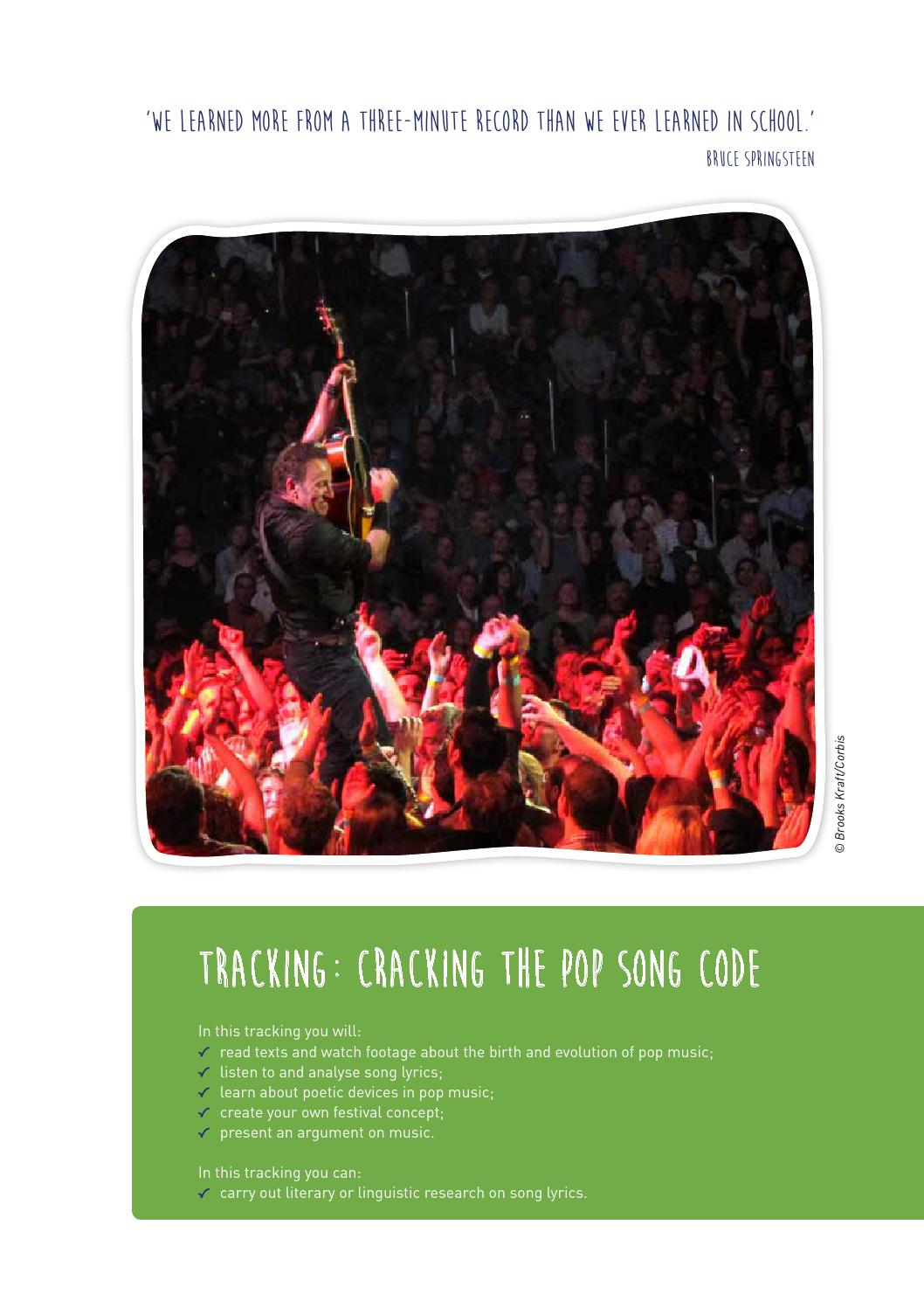 Tracking 3e graad craking the pop song code by van in issuu malvernweather Image collections