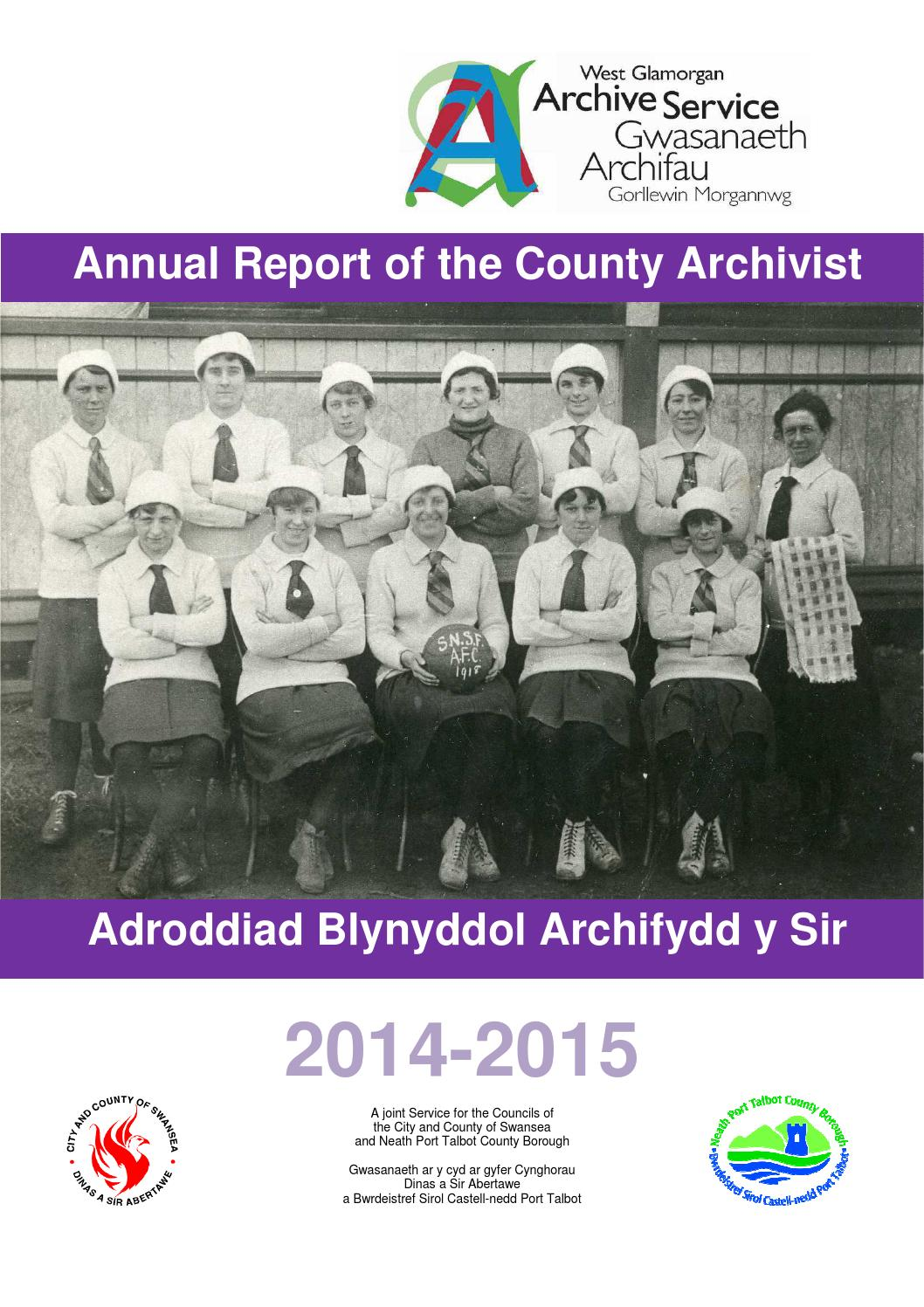 Annual report of the county archivist 2014 2015 by city and county annual report of the county archivist 2014 2015 by city and county of swansea issuu nvjuhfo Images