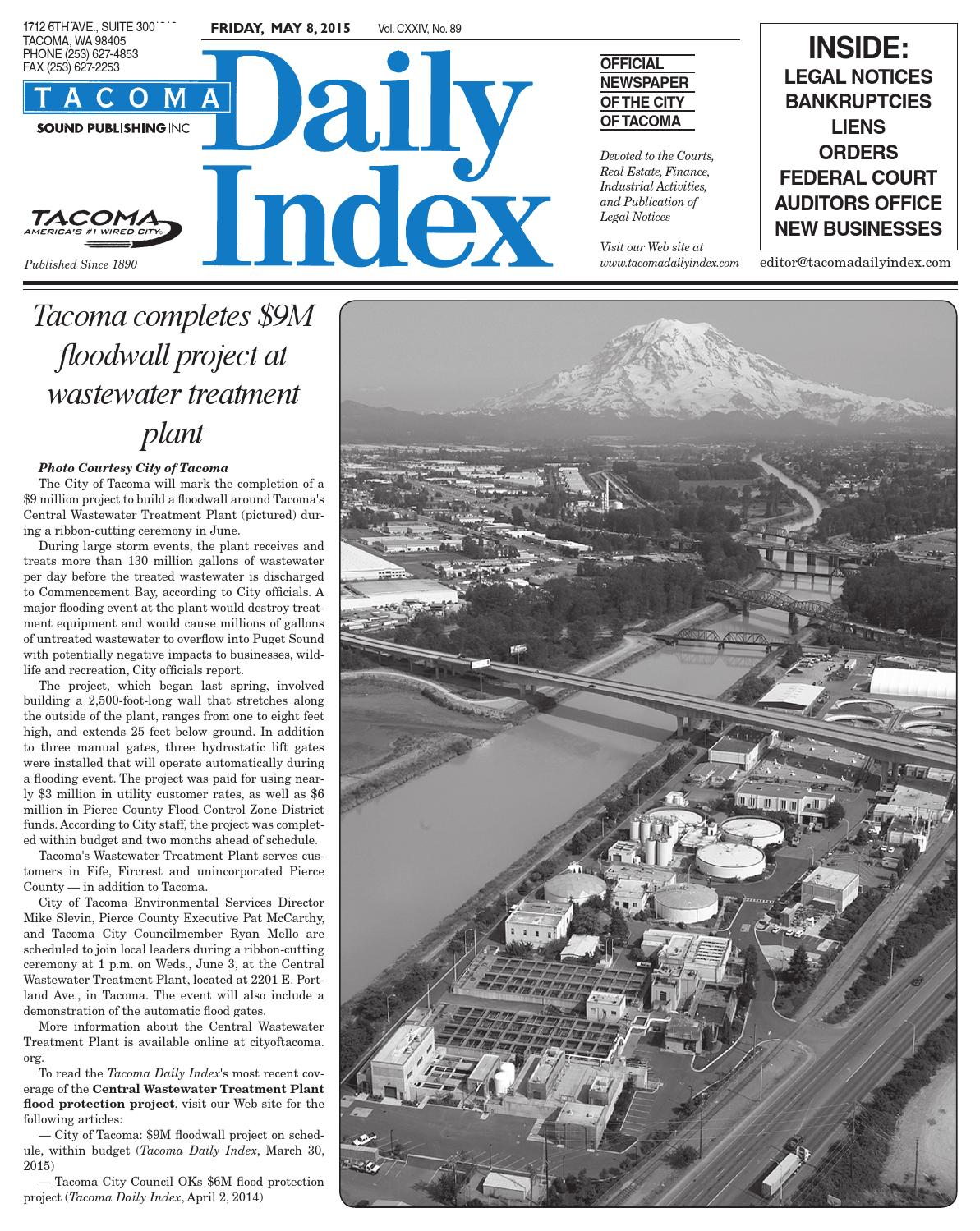 Tacoma Daily Index May 08 2015 By Sound Publishing Issuu