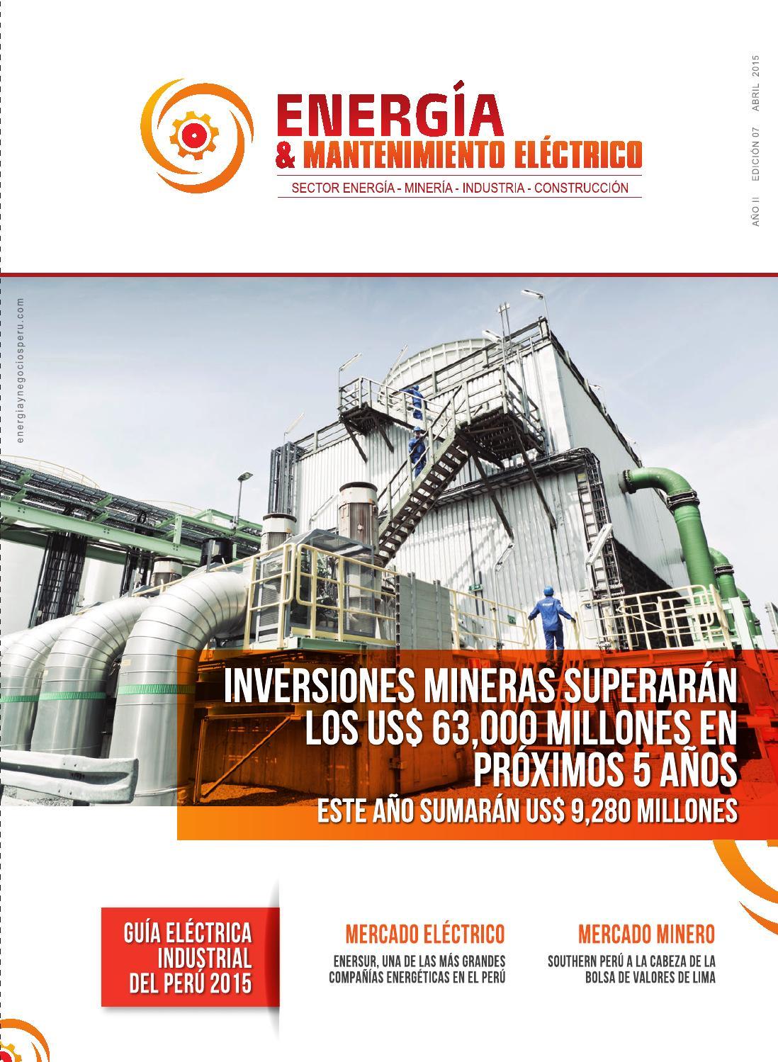 Guía Eléctrica Industrial del Perú 2015 by Energía y Negocios Perú ...