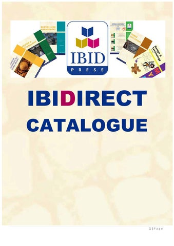 Ibidirect catalogue by ibid press issuu page 1 fandeluxe Image collections