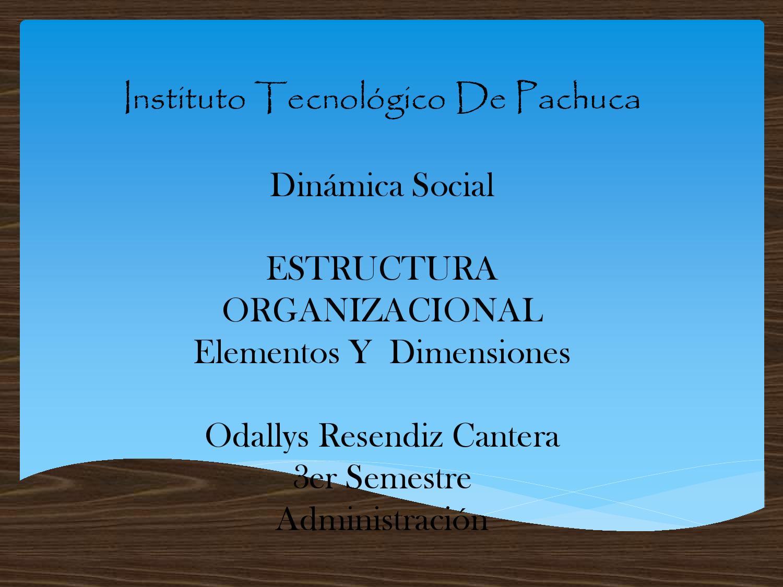 Elementos De La Estructura Social By Odallys Issuu