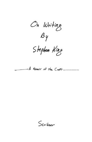 9d4a5e41c19e7 Stephen king on writing by Abdullah S Alhodaif - issuu