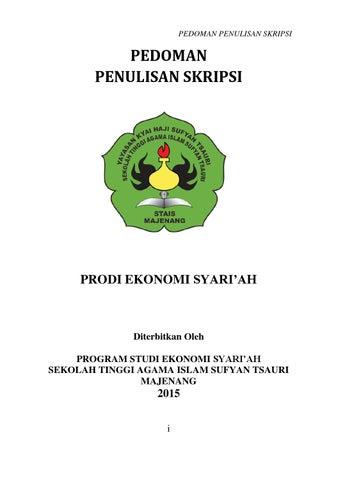 Panduan Skripsi Syariah Stais 2015 By Stai Sufyan Tsauri Issuu