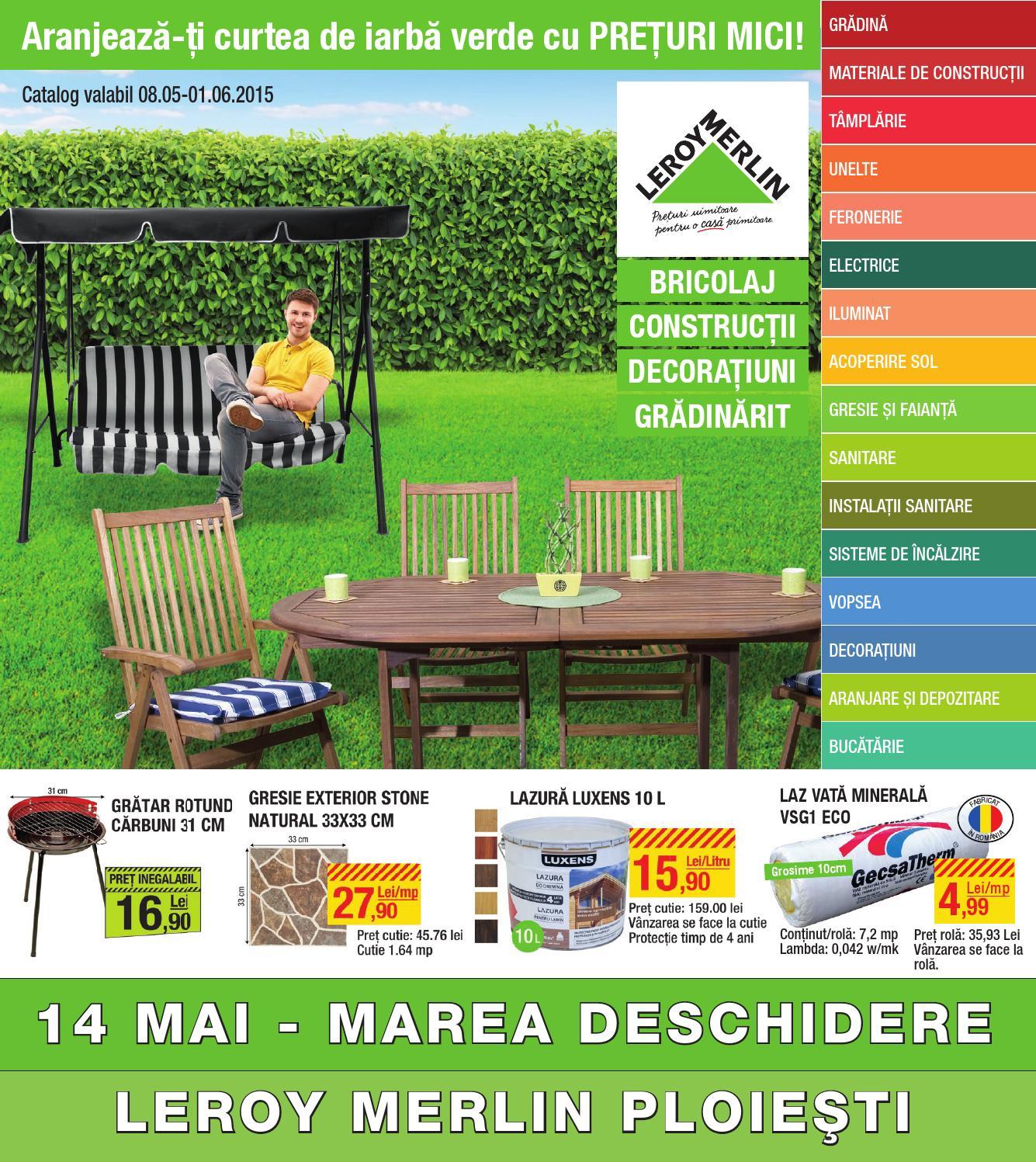 Catalog leroy merlin 8 mai 1 iunie 2015 by cataloage issuu - Musique pub leroy merlin ...