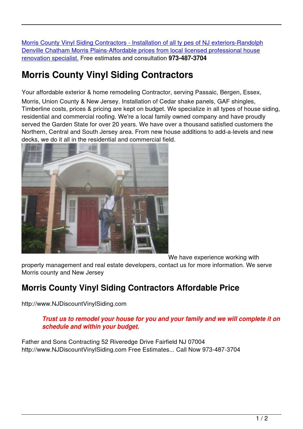 Morris County Vinyl Siding Contractors By Vinyl Shakes Issuu