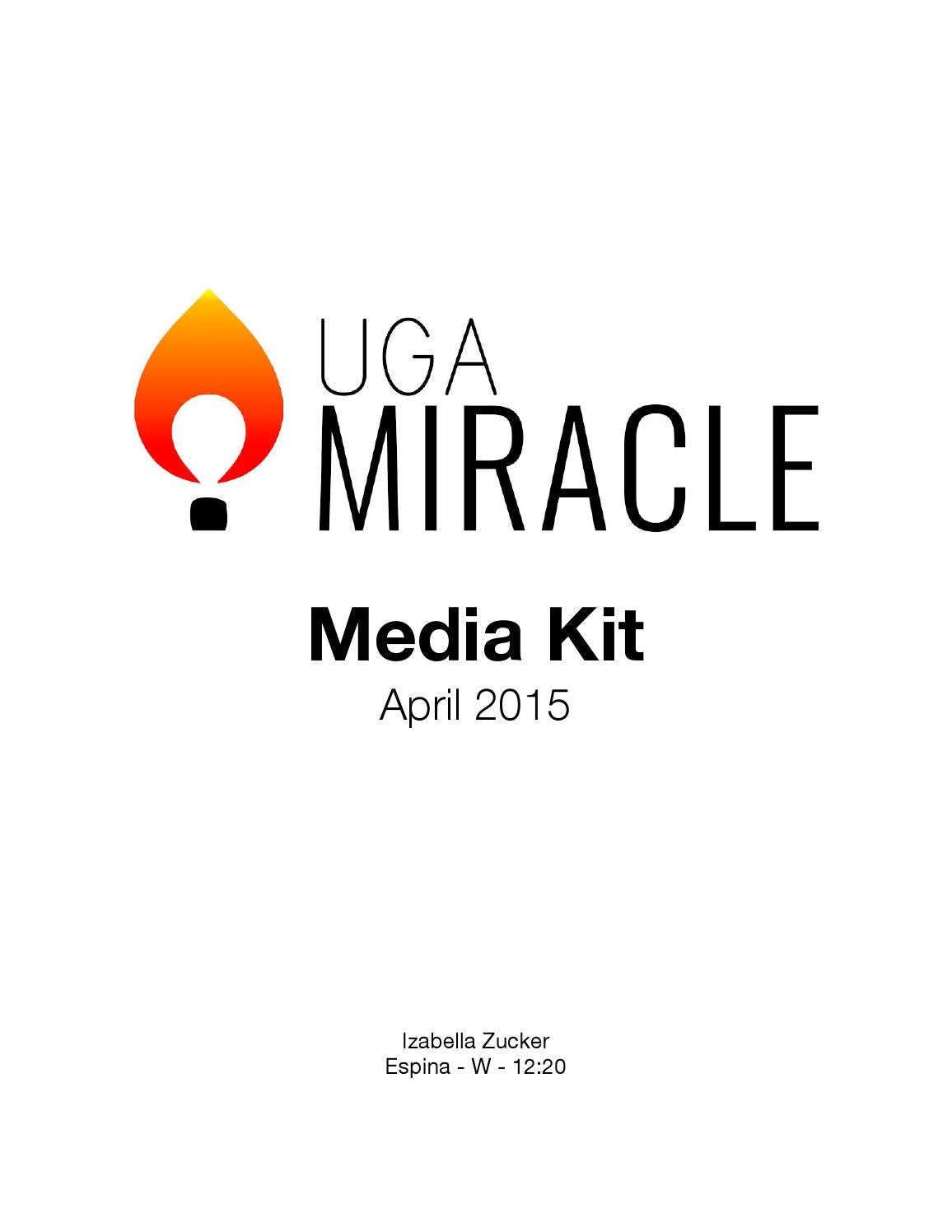 UGA Miracle Media Kit by Brian Baker - issuu