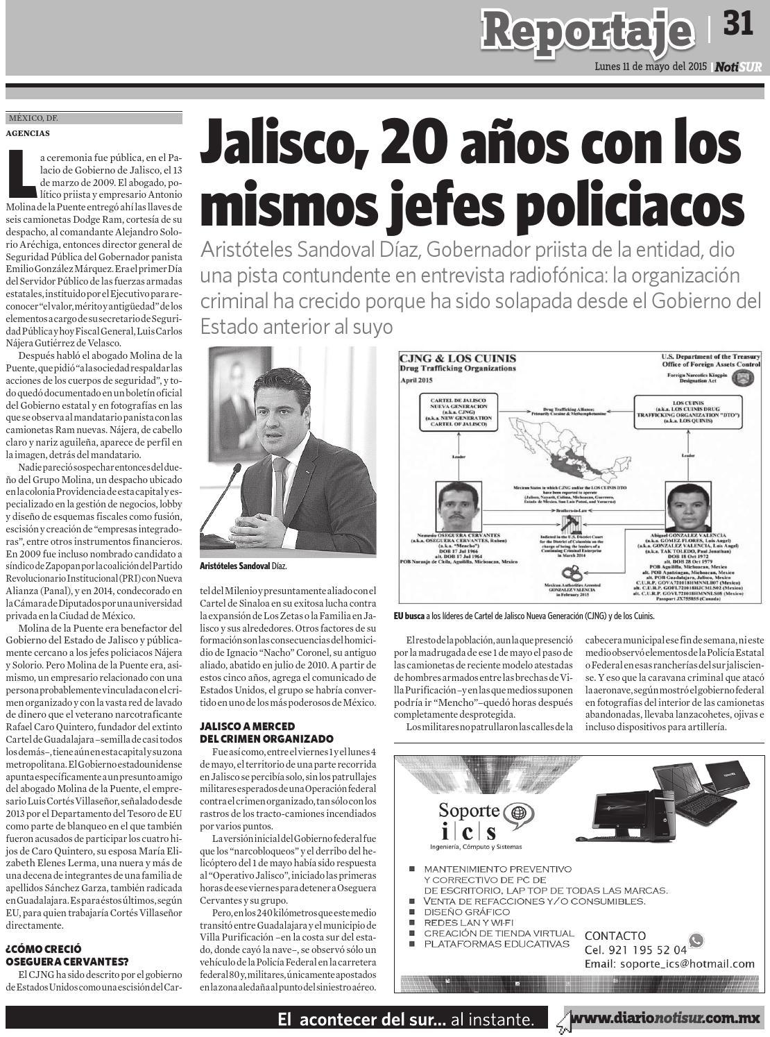 NotiSUR 11 de mayo 2015 by Diario NotiSUR Coatzacoalcos 2015