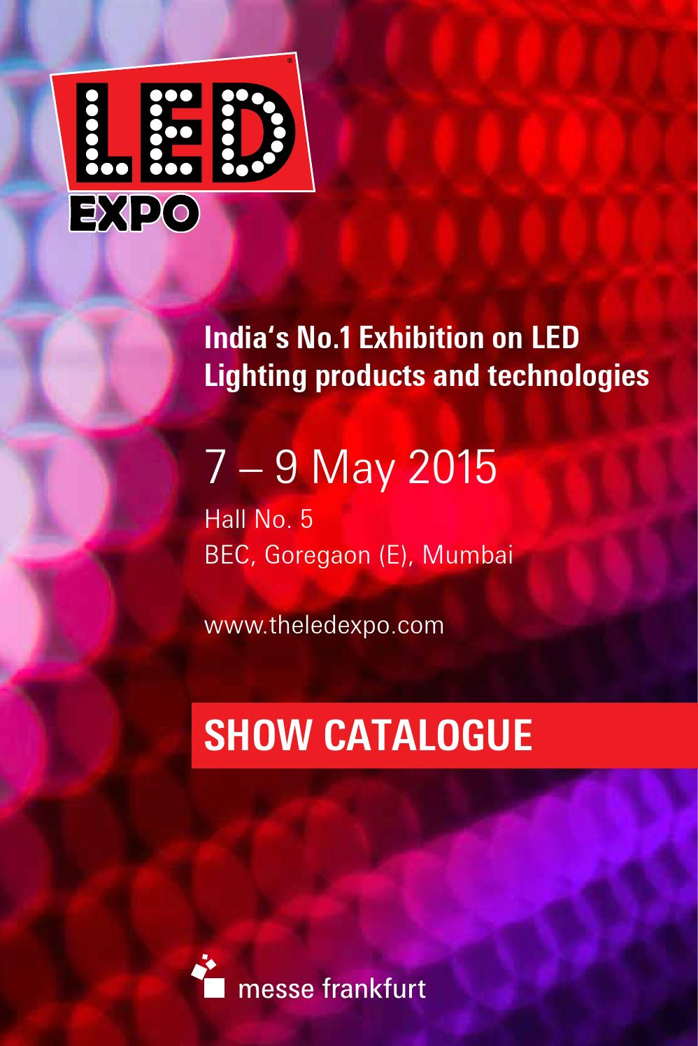 Led Expo Mumbai 2015 Official Show Catalogue By Messe Frankfurt Light Circuit Board Hebei For Sale Issuu