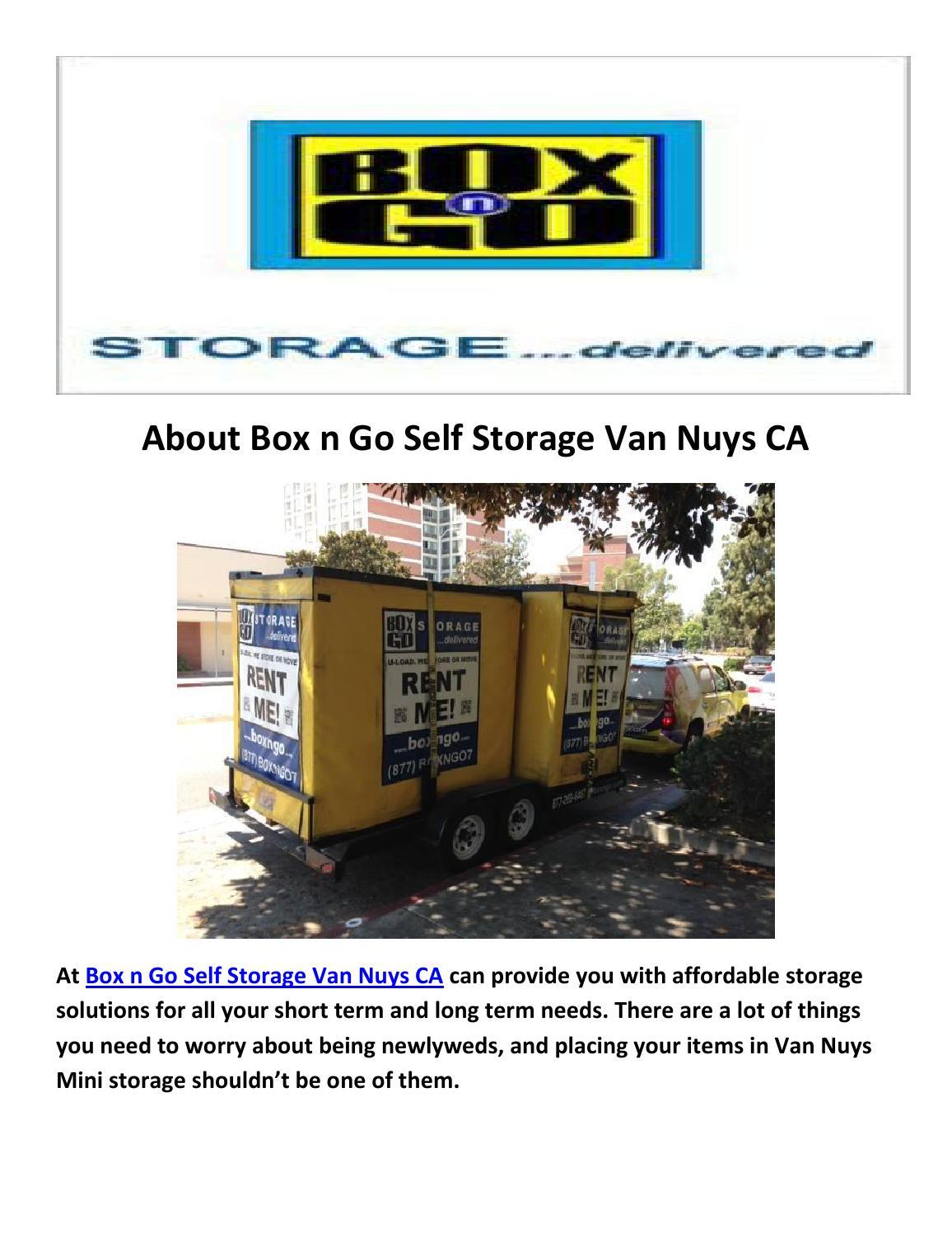 Beau Box N Go Self Storage In Van Nuys CA By Box N Go Self Storage Van Nuys    Issuu