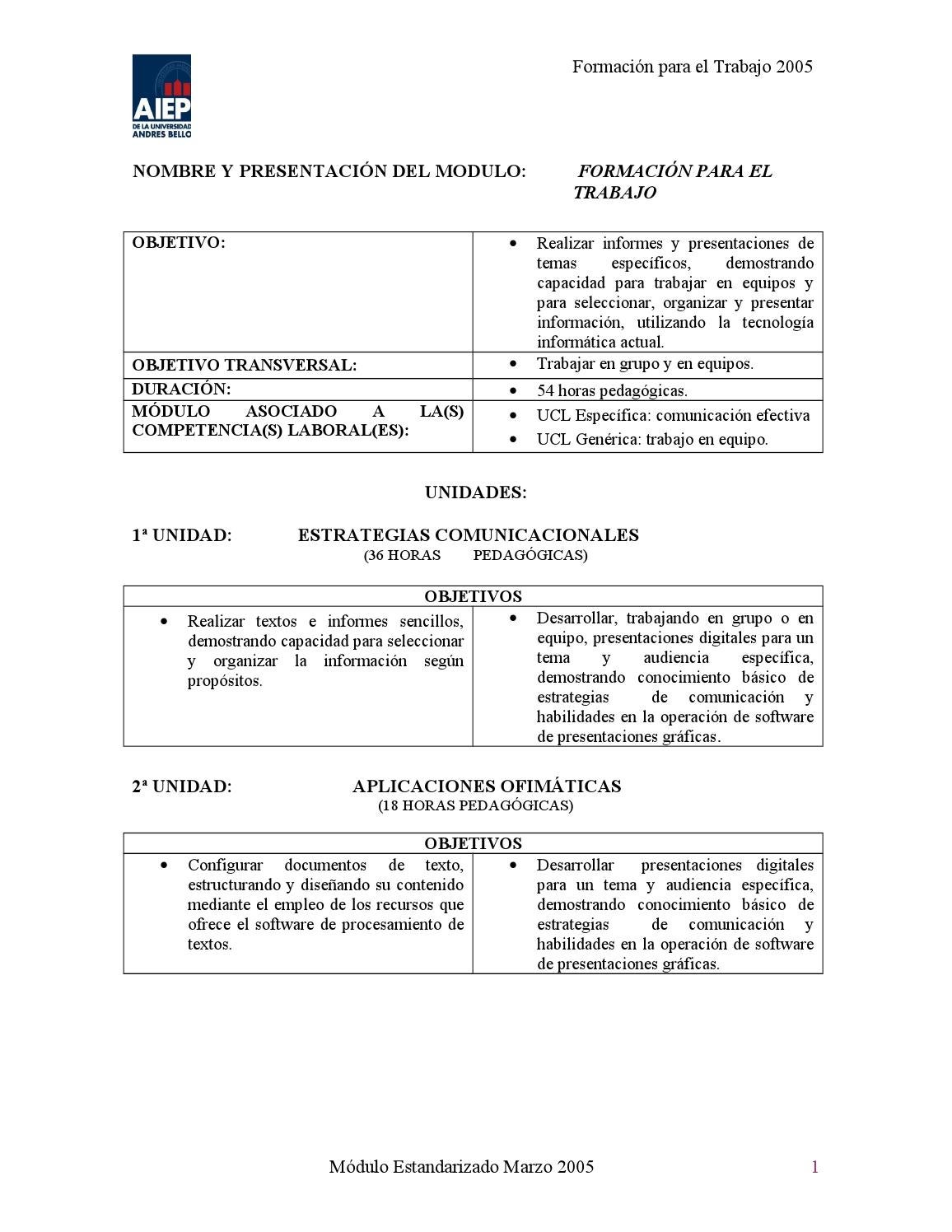 Manual de formación para el trabajo 2005 by cbdocencia aiep - issuu