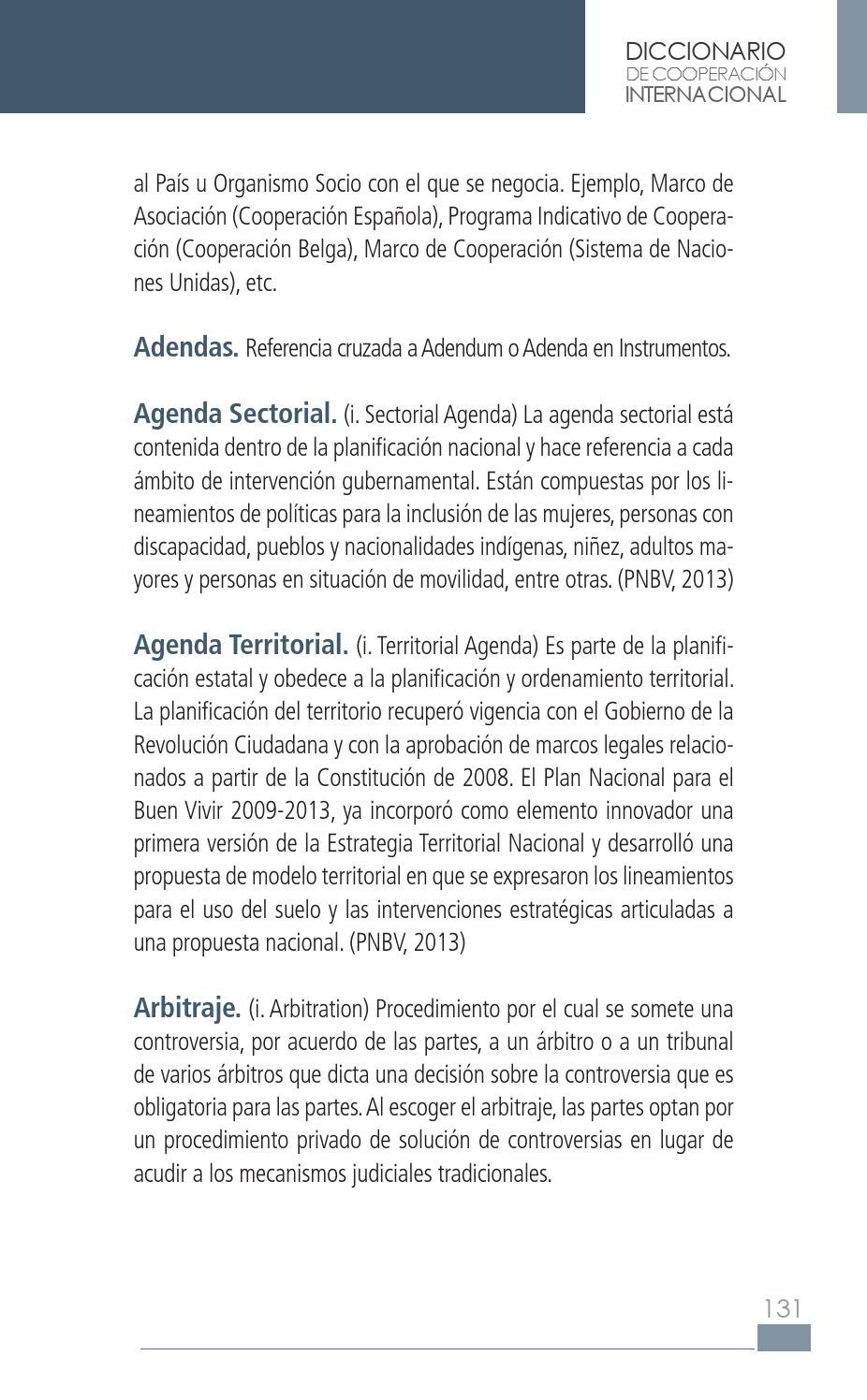 Diccionario de Cooperación Internacional by SETECI - issuu