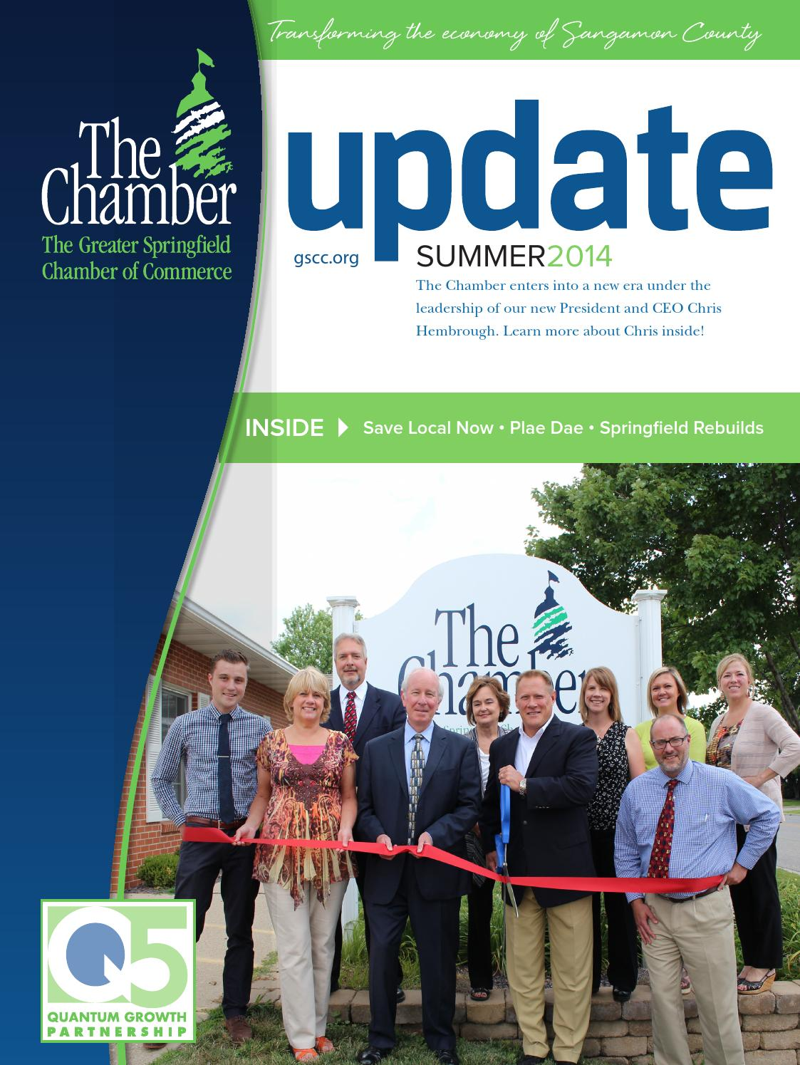 Update - Summer 2014 by The Greater Springfield Chamber of